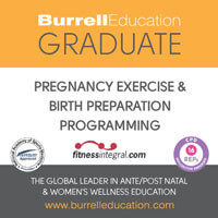 Burell Education Pregnancy excercise and birth preparation qualification