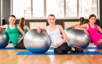 Pregnancy exercise with PUFF Fitness.